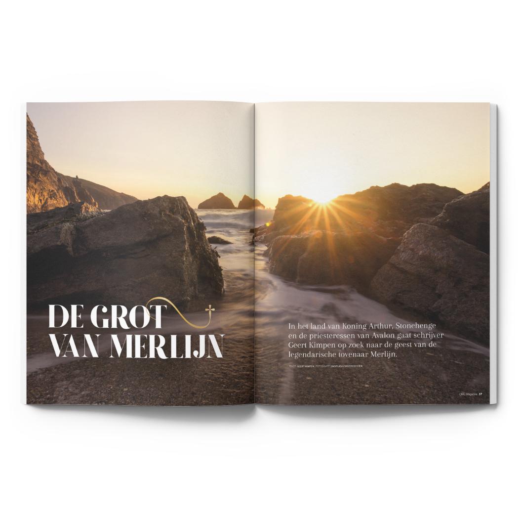 OMG Magazine editie 2 zomernummer - Voor een bezield leven - Other Me God - Artikel De Grot van Merlijn reisverslag