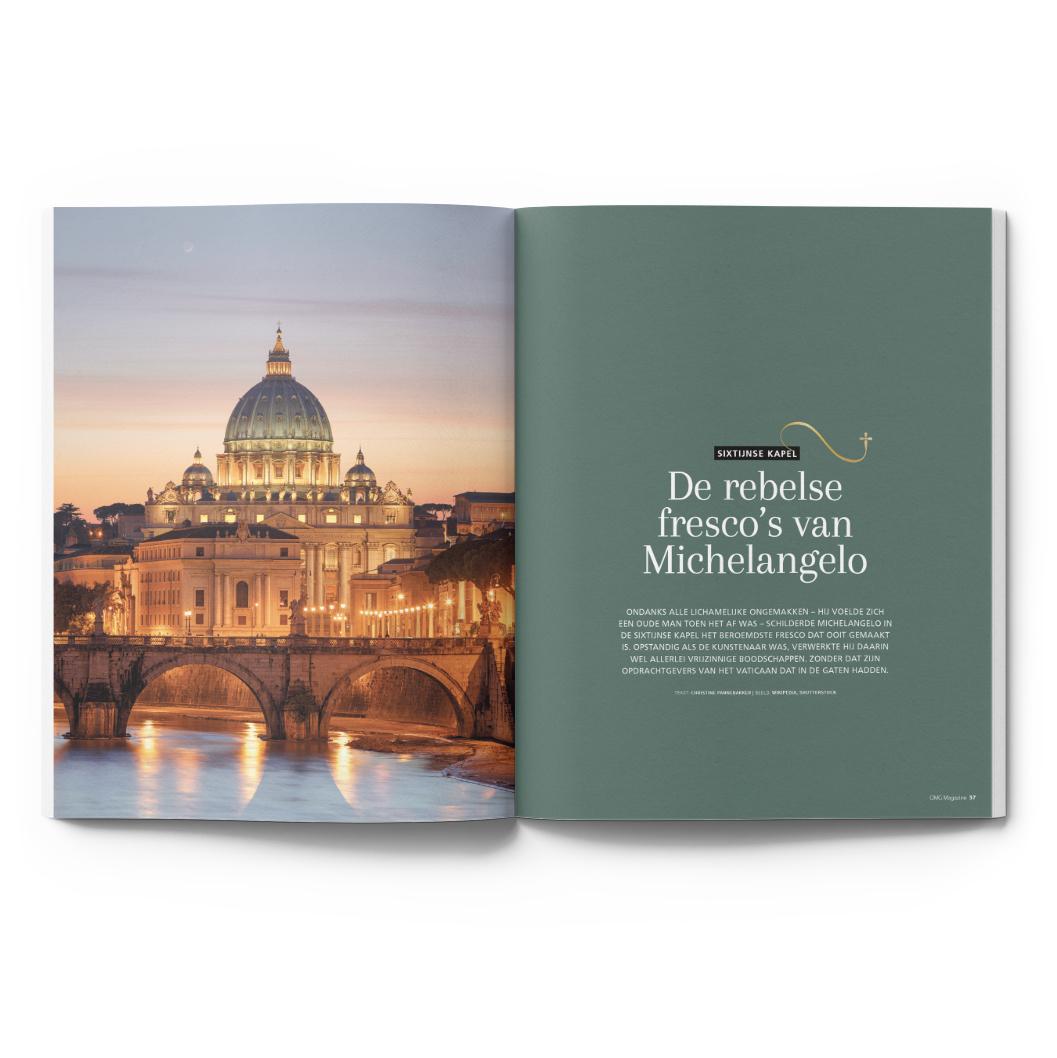 OMG Magazine editie 2 zomernummer - Voor een bezield leven - Other Me God - Artikel De rebelse fresco's van Michelangelo